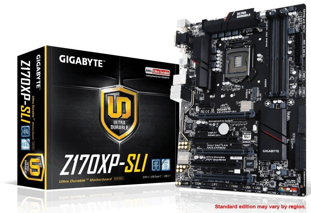 Gigabyte LGA 1151 Z170 2-Way SLI UEFI DualBIOS ATX DDR4  ATX DDR4 NA Motherboards GA-Z170XP-SLI by Gigabyte