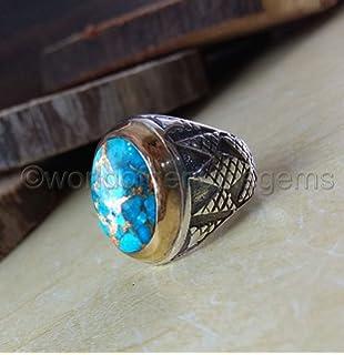 925 Silver Inverted Pentagram Ring Black Agate Pentacle Devil Satan Men Ring