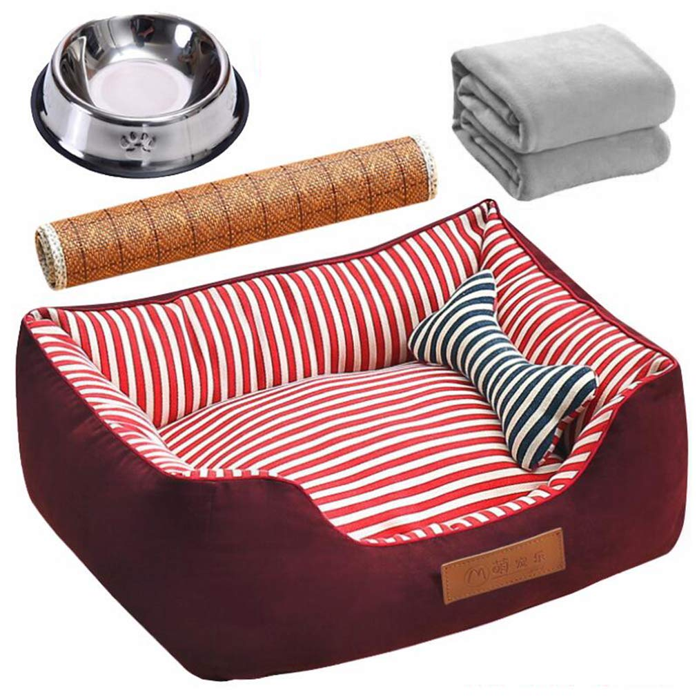 color C LCUUYQ Soft pad Deluxe pet beds, Cozy Nonslip Dog & cat beds Pet cushion Washable Pet bed For dogs & cats,color E_L