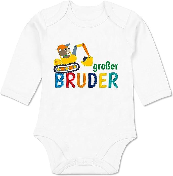 Baby T-Shirt Langarm Geschwisterliebe Baby Gro/ßer Bruder Bagger Shirtracer