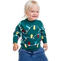 Suéter con luces navideñas de color verde para bebés