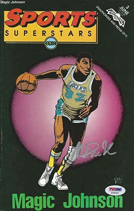 Magic Johnson Autographed Signed Memorabilia Sports Basketball Superstars Comic Book Magazine - PSA/DNA