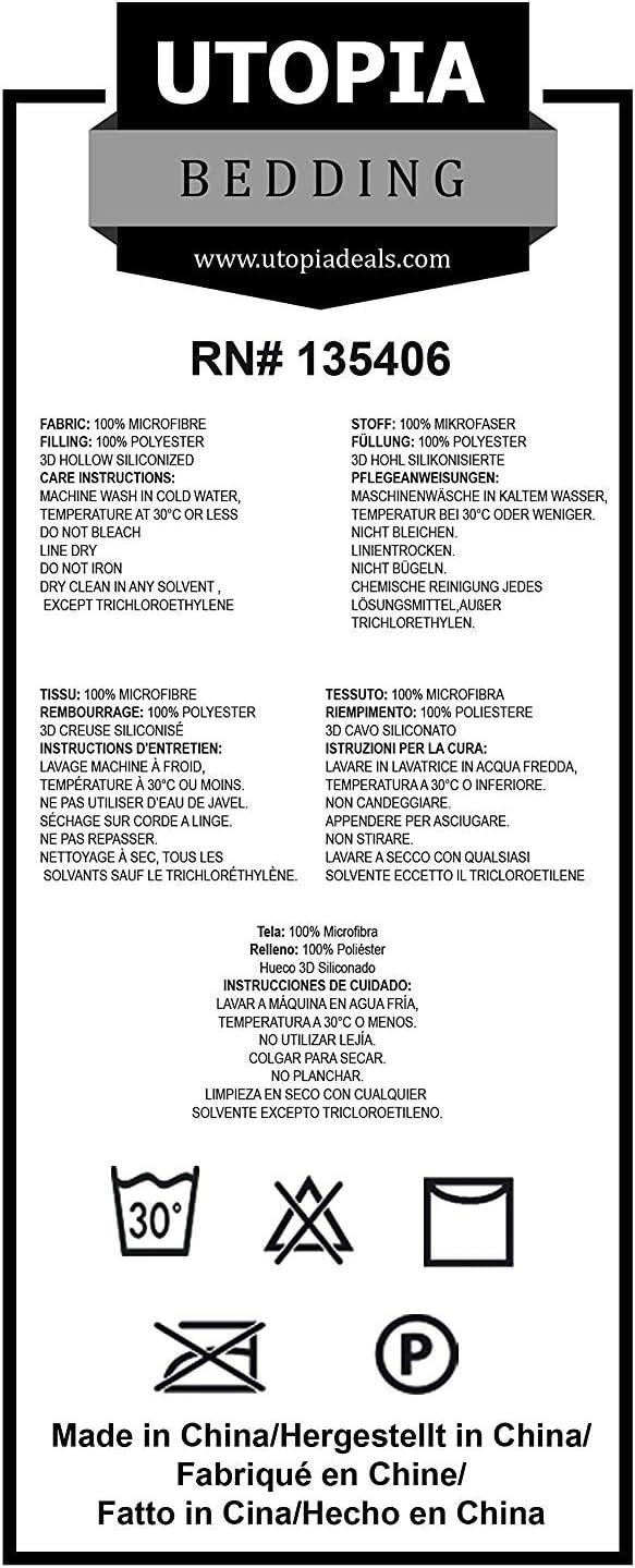 Utopia Bedding Juego de Edred/ón Edred/ón Ligero con Funda de Almohada Primavera-Verano 200gr//m/² Cama 80-135x200cm + 1 x Funda 80x80cm, Gris Microfibra