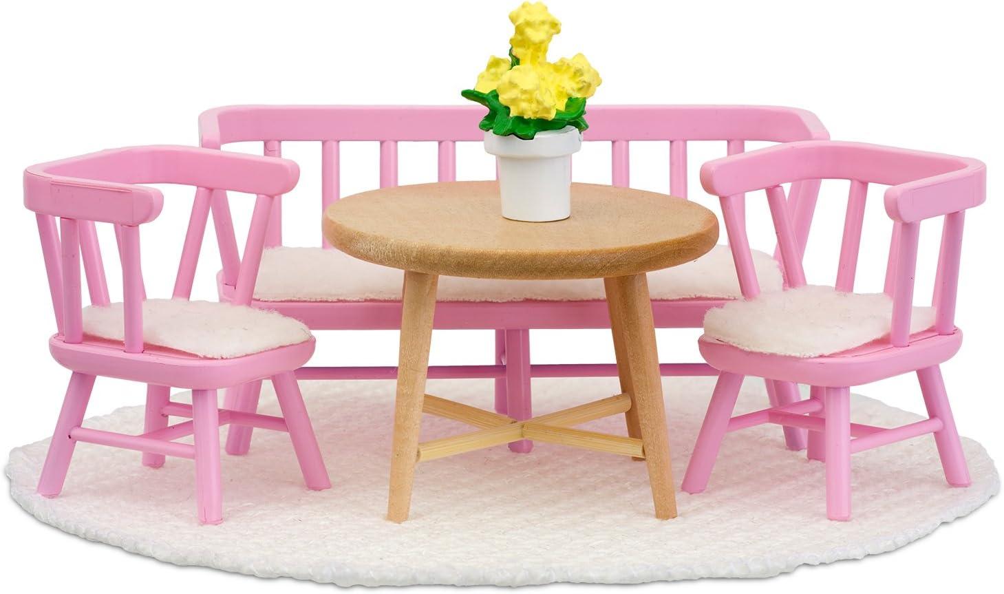 Lundby Smaland Kitchen Furniture Set, Pink