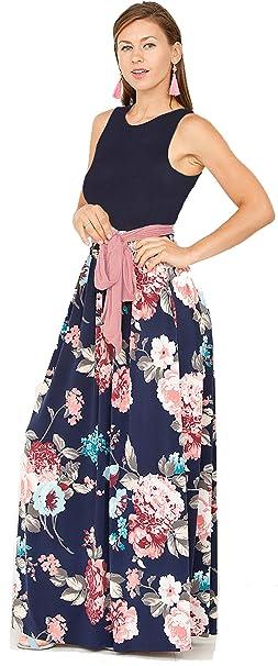 Vestido de Verano para Mujer Vestido Largo Floral Vestido ...