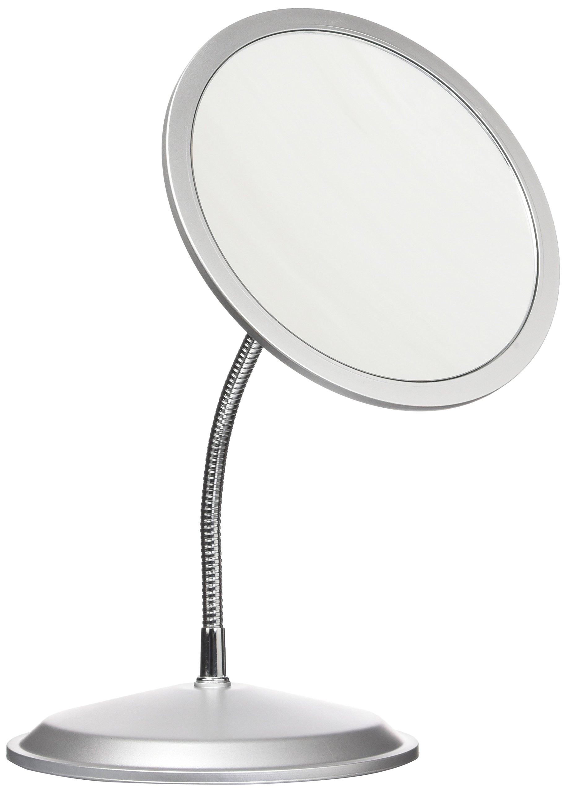 Double VisionTM Gooseneck Vanity/Wall Mount Mirror 5X/10X Magnification, Made in the USA by Zadro