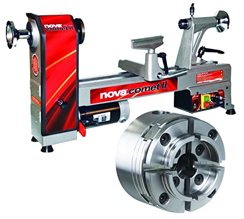 Nova 46301 Comet II Variable Speed Midi Lathe Bundle with Nova G3 COMET II Reversible Chuck, 12'' x 16.5''