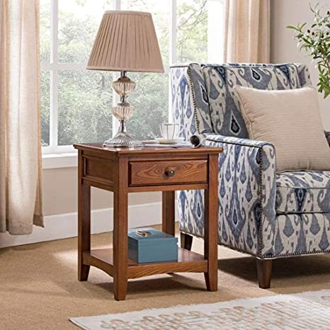 Pleasing Amazon Com L Life End Tables Side Table Solid Wood Square Ncnpc Chair Design For Home Ncnpcorg
