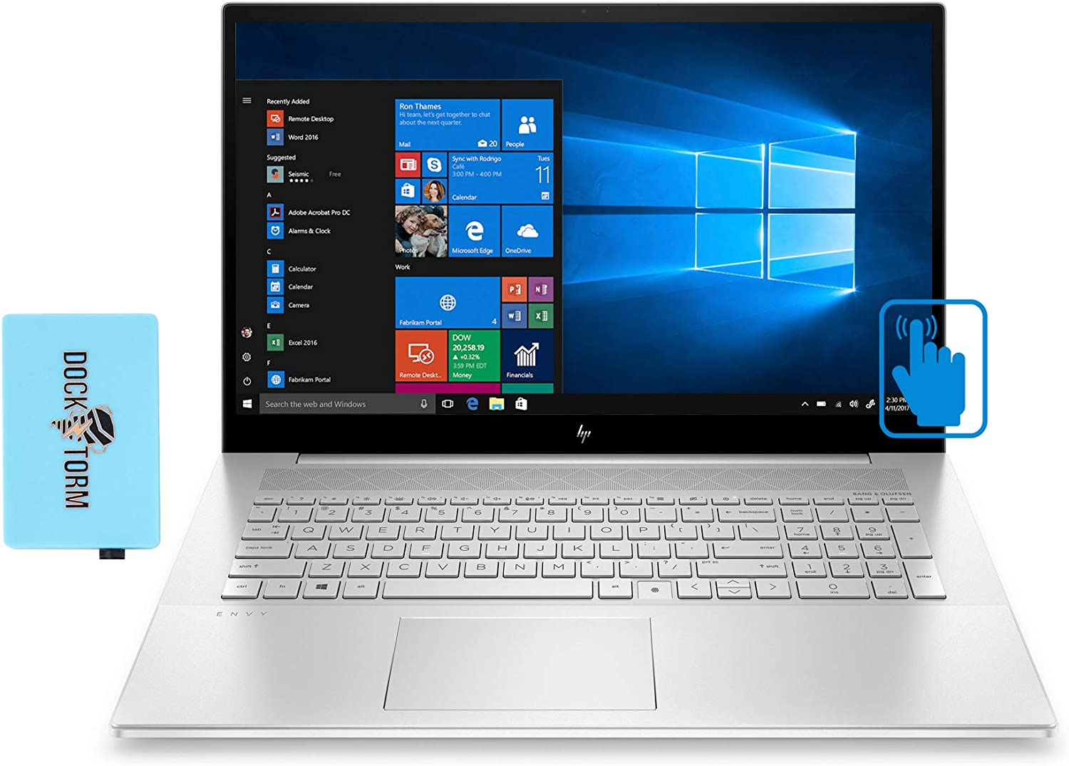 HP Envy - 17t-cg100 Home and Business Laptop (Intel i7-1165G7 4-Core, 32GB RAM, 1TB PCIe SSD, MX450, 17.3