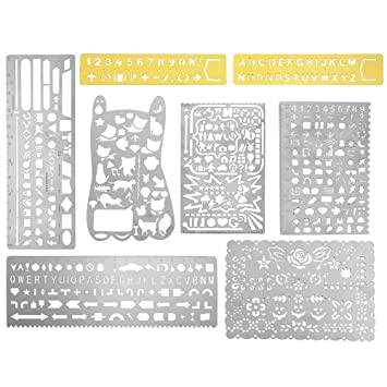 Amazon.com: OPount 8 In 1 Stainless Steel Portable Drawing Painting ...