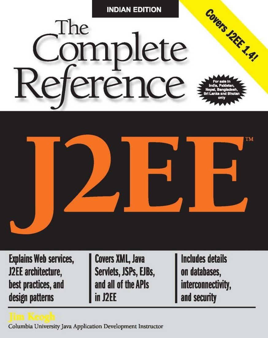 Buy J2ee The Complete Reference Book Online At Low Prices In India