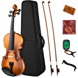 Eastar EVA-330 4/4 Violin Set Full Size Fiddle for Students Kids Adults with Hard Case, Shoulder Rest, Rosin, Two Bows…