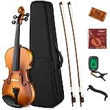 Eastar EVA-330 4/4 Violin Set Full Size Fiddle for Students Kids Adults with Hard Case, Shoulder Rest, Rosin, Two Bows, Clip-