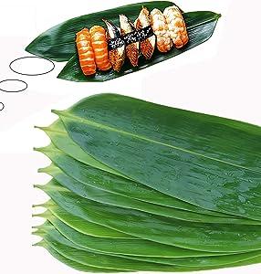 Bamboo Leaves Sushi Bazooka Maker Kit 100pcs - Decorations for Japanese Sushi Roller Plates
