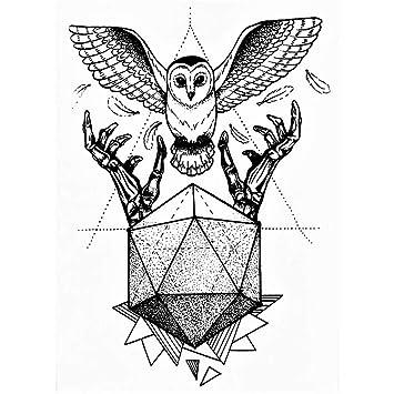 Just Fox – Tatuaje temporal, diseño de búho: Amazon.es: Belleza