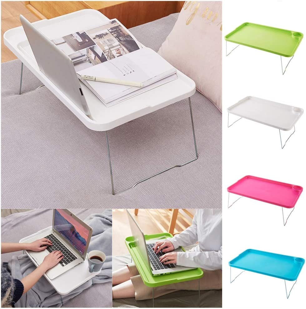 AfterSo Bed Trays for Eating and Laptops Bed Tray Small Folding Table Portable Multipurpose Serving Tray Student Dormitory Table Laptop Tray Coffee Tray