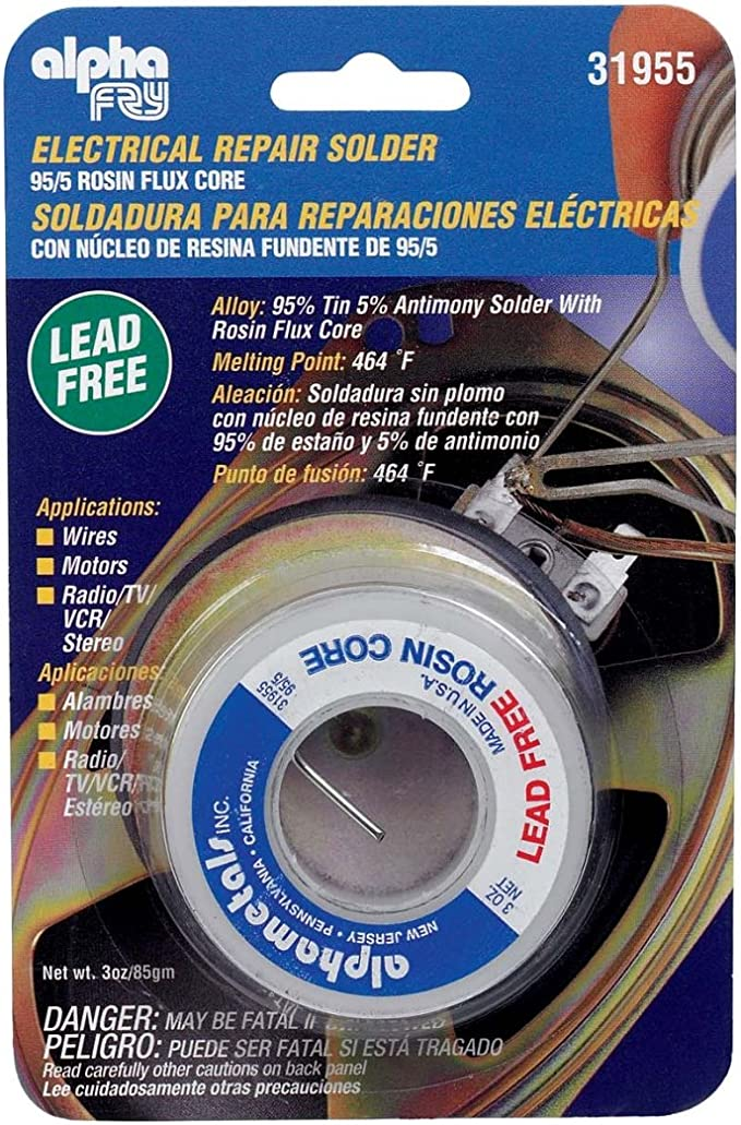 "63//37,Dia:.032/"",1 LB.,Water Soluble Alpha Pure Core,Item # 110346,Solder Wire"