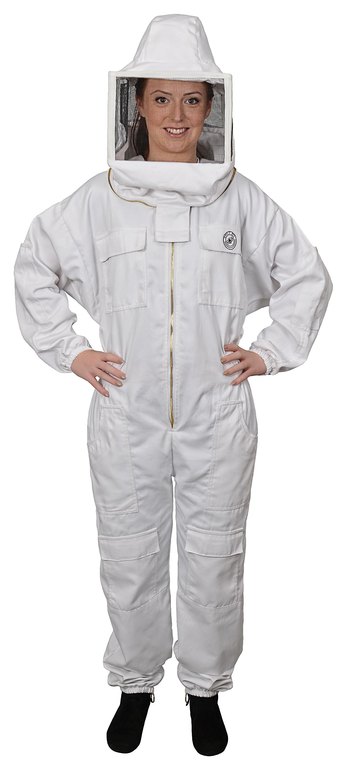 Humble Bee 412-XXL Polycotton Beekeeping Suit with Square Veil (XX Large)