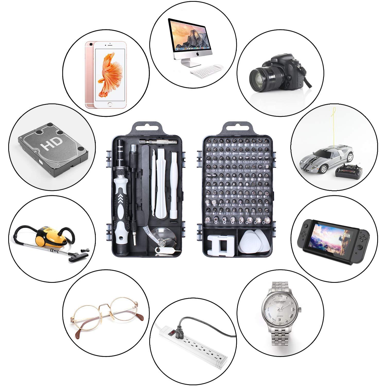 Juego de destornilladores, Gocheer kit de herramientas de reparación de destornilladores de precisión 110 en 1 Kit de controlador magnético Kit de herramientas de profesional para teléfono celular