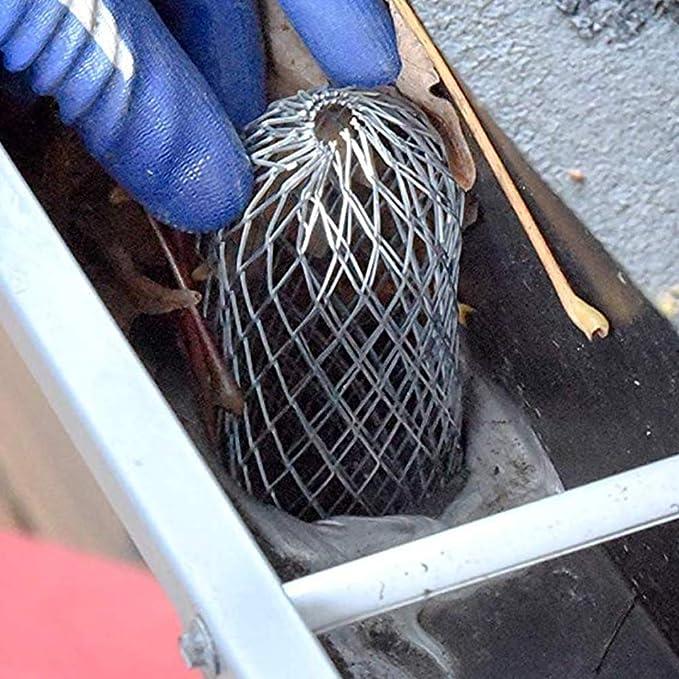 Regenfilter Abflussschutz Silber CviAn Dachrinnenschutz verhindert Verstopfung von Laub und Schmutzfiltersieb aus Netzgewebe f/ür Dachrinnen