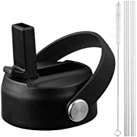 Straw Lid for Hydro Flask Wide Mouth, Flex Straw Lid for Hydroflask Wide Mouth 12 16 18 20 32 40 64 oz, Flexible Handle…