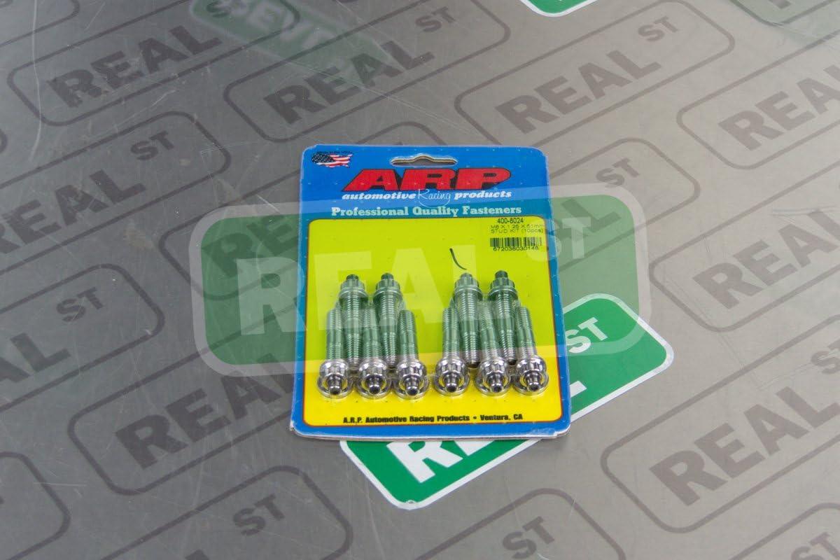 10 Piece ARP 400-8024 M8 x 1.25 x 51mm Stainless Steel Stud Kit