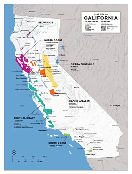 Wine Folly USA: California Wine Map Poster Print, 12\