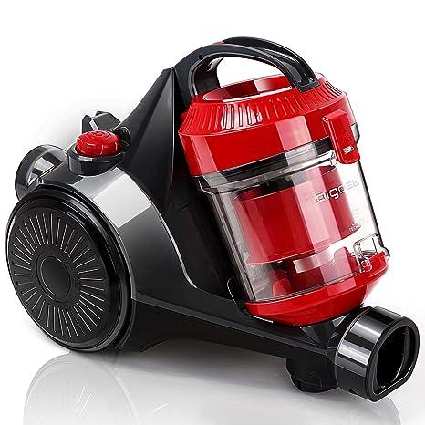 Aigostar Dino 30ICP - Aspirador ciclónico sin bolsa, 700 W de potencia, 2 tipos de cepillos incluídos, filtro HEPA, silencioso 76dB. Recogida ...