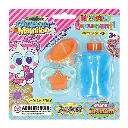 Amazon.com: Kit de molinillo chupete y mamila neonato azul ...