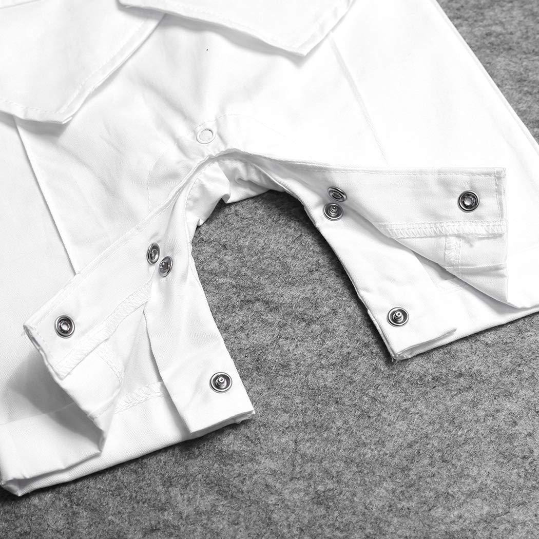 Mary ye Baby Boys Gentleman Shirt Waistcoat Bowtie Tuxedo Onesie Short Overall