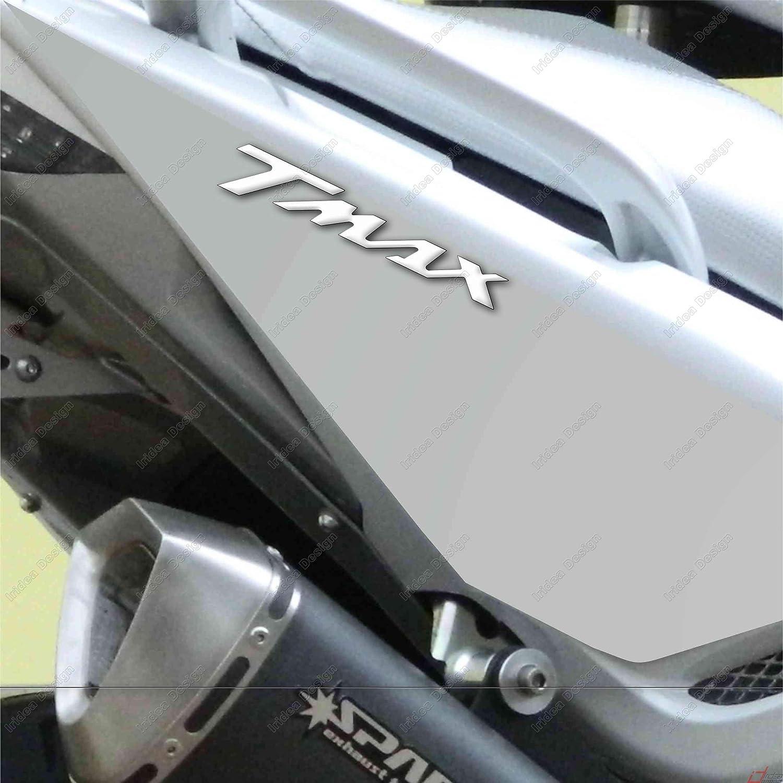 2 ADESIVI MOTO IN RESINA 3D SCRITTA TMAX COMPATIBILE YAMAHA T MAX 500 BIANCO 530