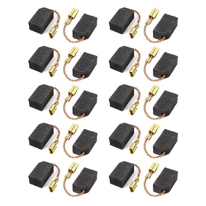 sourcingmap® Outil Électrique Pièce de rechange Moteur Balai Charbon 14mm x 8mm x 6mm 20 Pièces Grise