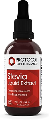 Protocol For Life Balance – Stevia Liquid Extract – Naturally Processed Organic Formula Helps to Improve Taste and Sweetening Properties – Zero Calorie Sweetener – 2 fl oz 59 mL