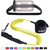 Unigear Premium 10' Coiled SUP Leash (11 Colors) Inflatable Paddle Board Surfboard Leash with Waterproof Wallet