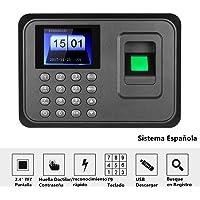 """Decdeal - 2.4"""" TFT USB Máquina de Asistencia Biométrica de Huella Dactilar, Sistema Española, LCD Pantalla"""