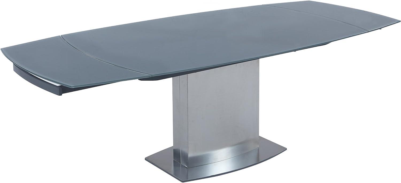 Milan MAYA-DT Maya Grey Glass Dining Table