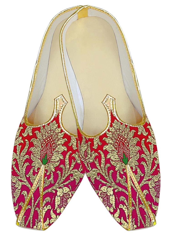 INMONARCH Crimson Kheenkhap sombreada Hombres Zapatos de Boda MJ15372 42.5 EU