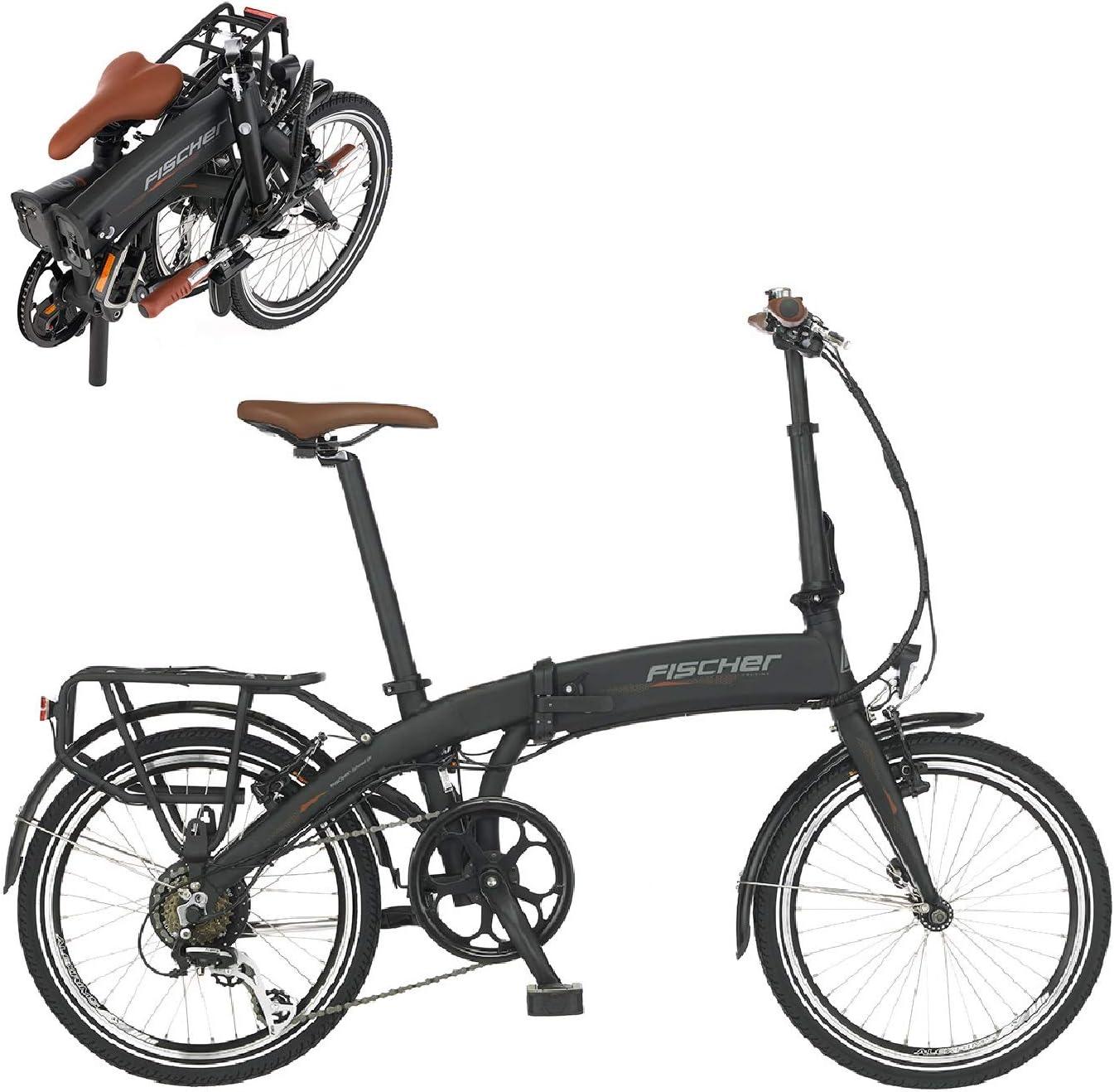 FISCHER E-Bike bicicleta eléctrica, negra, 20