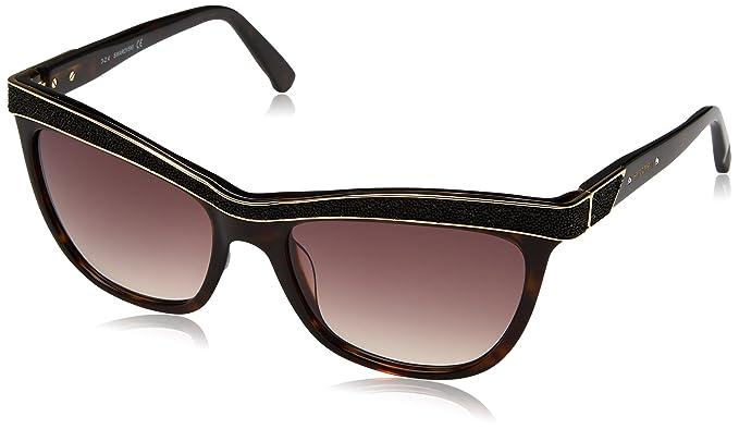ff72541ac1a Swarovski Ella SW75 53F (Dark Havana - Glitter Black with Brown ...