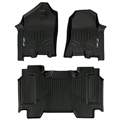 MAXLINER Custom Fit Floor Mats 2 Row Liner Set Black for 19-20 Ram 1500 Crew Cab without Rear Underseat Storage Box: Automotive