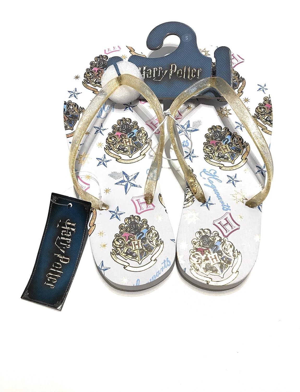 Harry Potter Flip Flops Hogwarts Summer Beach Ladies Slipper New Primark UK 3-8