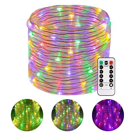 9bcf902bed4 Luces LED de cuerda Funciona con batería Resistente al agua 46 pies 120  Luces LED de
