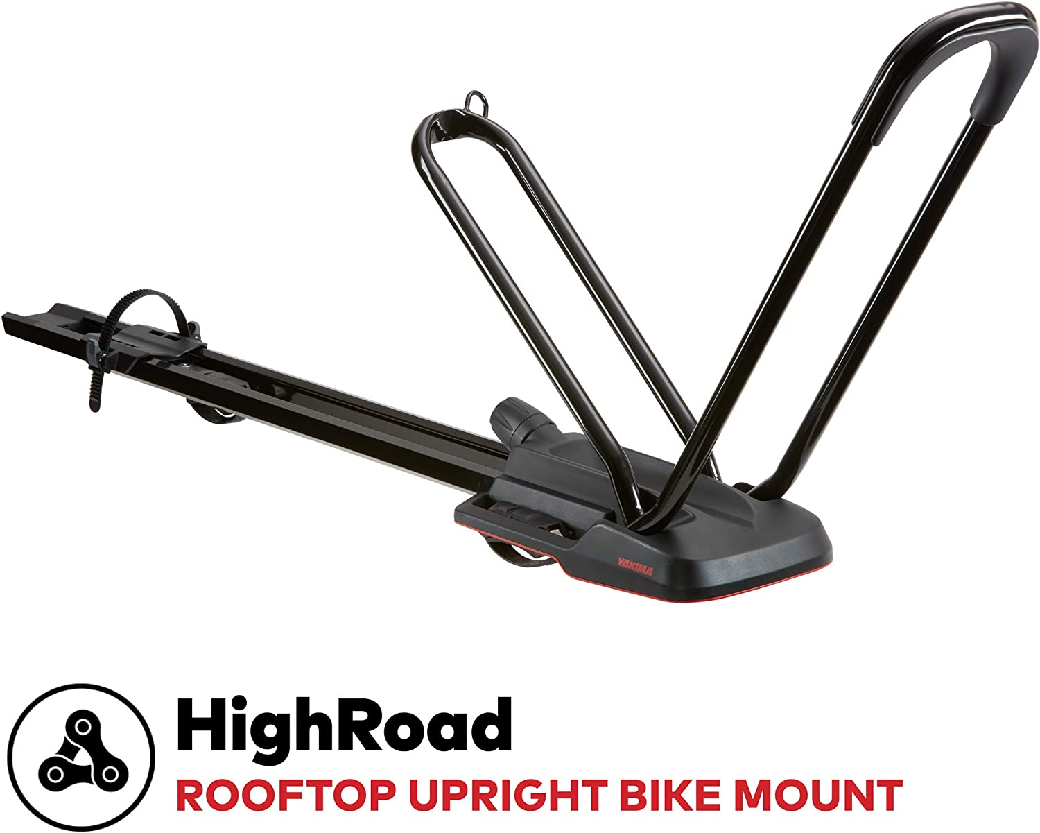 yakima – Highroad Wheel-On Mount Upright Bike Carrier for Roof Racks, 1 Bike Capacity