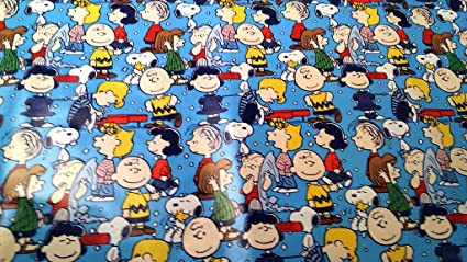 Christmas Wrapping Charlie Brown Snoopy Pig Pen Holiday Paper Gift Greetings 1 Roll Design Festive Wrap