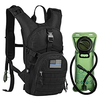 Amazon.com : RUPUMPACK Tactical Molle Hydration Backpack with 2L BPA Free Water Bladder Keeps Water Cool up to 4 Hours, Lightweight Military Daypack for ...