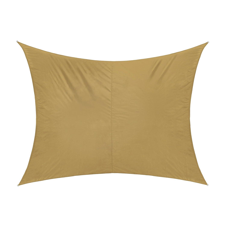 jarolift toldo vela rectangular repelente al agua 300 x 200 cm beige amazones hogar - Toldo Vela Rectangular