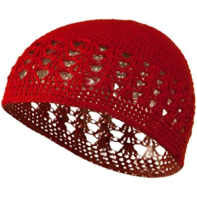 Cotton Kufi Cap Red Osfm Amazon Clothing Accessories