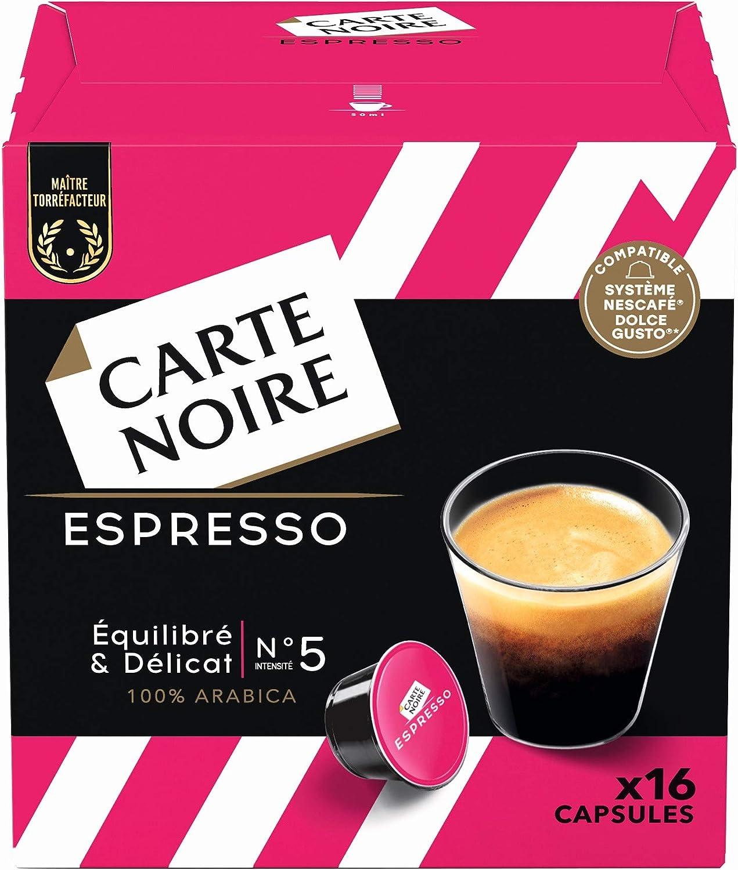 Dosettes de café Carte Noir compatible Dolce Gusto en promotion