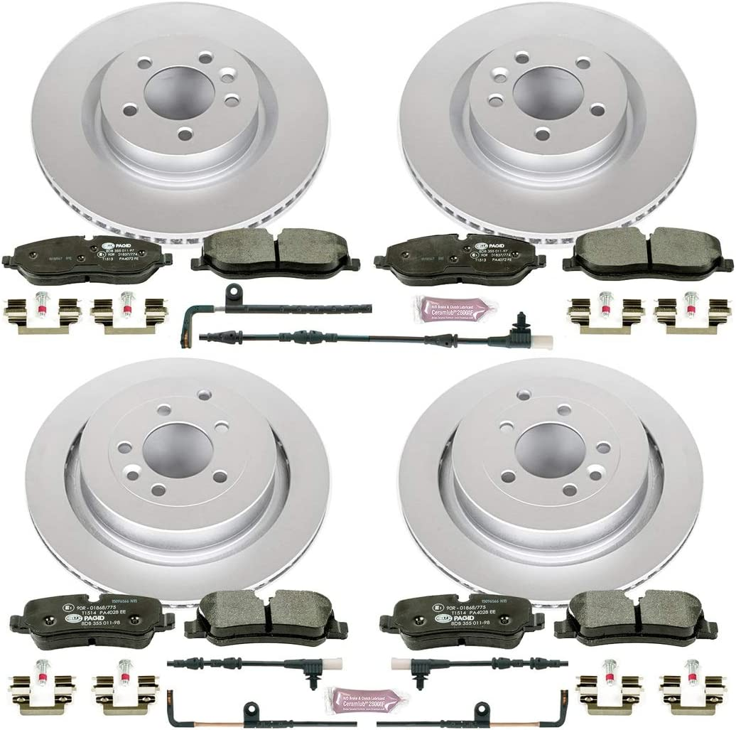 Power Stop NEW before selling ESK6048 Front Rear Brake Euro-Stop Kit Omaha Mall L Rover