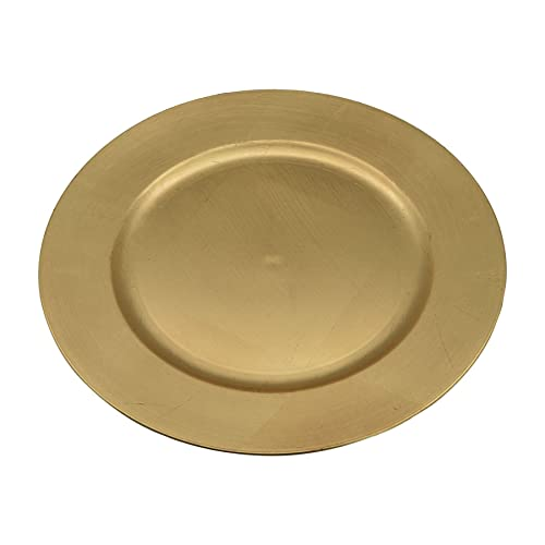 Argon Tableware Round Charger Under Plates in Gold - 330mm - Pack Of 6  sc 1 st  Amazon UK & Set Of 6 Gold Lacquer Decorative Charger Dinner Table Under Plate ...